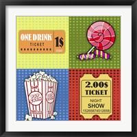 Popcorn Pop Art III Framed Print