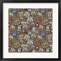 Route 66 on Wood Framed Print