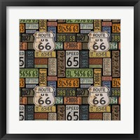 Framed Route 66 -  Black II