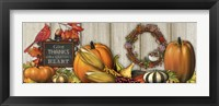Framed Give Thanks with a Grateful Heart