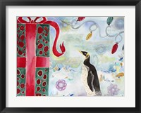 Framed Merry Christmas Penguin