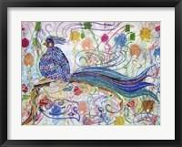 Framed Bird in the Roses