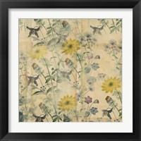 Framed Floral Collage Layered Papers