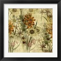 Framed Floral Collage Music