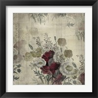 Framed Floral Collage White Space