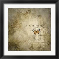Framed Real Beauty Butterfly