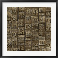 Framed Grungy Calendar Blocks