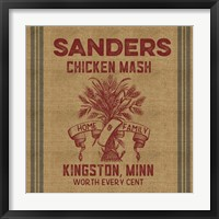 Chicken Mash Feed Sack Framed Print