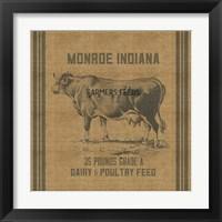Framed Cow Feed Sack