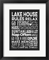 Framed Lake House Rules