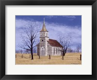 Framed Little Church House On The Prairie