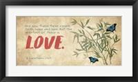 Framed 1 Corinthians 13:13 Faith, Hope and Love (Butterflies)