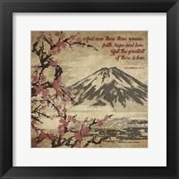 Framed 1 Corinthians 13:13 Faith, Hope and Love (Japanese)