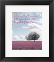 Framed 1 Corinthians 13:13 Faith, Hope and Love (Field)