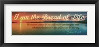 Framed John 6:35 I am the Bread of Life (Sunset)