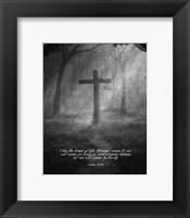 Framed John 6:35 I am the Bread of Life (Cross)