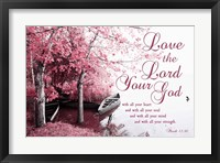 Framed Mark 12:30 Love the Lord Your God (Pink)