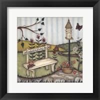 A Garden Restores The Soul Framed Print