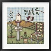 Framed Ladybug Cottage