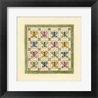 Butterfly Patchwork Framed Print