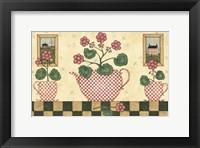 Pink Flower Pots Framed Print