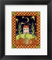 Pumpkin Moon Framed Print