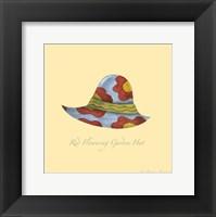 Red Flowering Garden Hat Framed Print