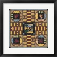 Framed Homespun Patches