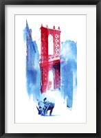 Framed Manhattan Bridge