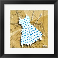 Blue On White Framed Print