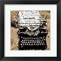 Framed Just Words 1