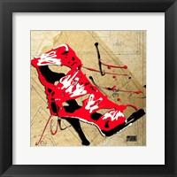 Framed Red Strap Boot
