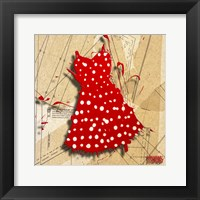 White On Red Framed Print