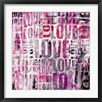 Framed Grunge Love Square