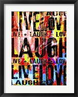 Framed Live Love Laugh