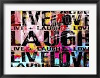 Framed Live Love Laugh Landscape