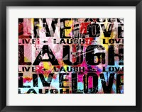 Framed Live Love Laugh Landscape