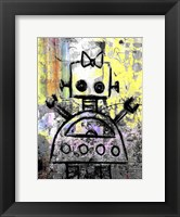 Framed Girl Robot Color
