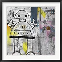 Framed Girly Grunge Robot