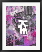 Framed Girly Skull Princess