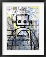 Framed Graffiti Robot Color