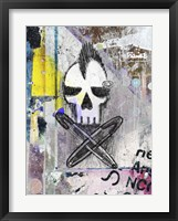 Framed Punk Skull