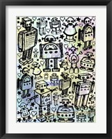 Framed Robot Crowd Color