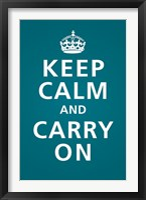 Framed Keep Calm (Teal)