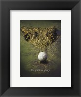 Framed Crocodile Golf