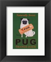 Framed Pug Naturally Sweet