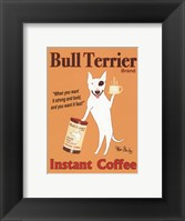 Framed Bull Terrier Instant Coffee