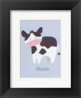 Framed Barn Baby Moo