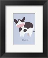 Framed Barn Baby Moo