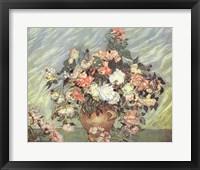 Framed Pink & White Roses